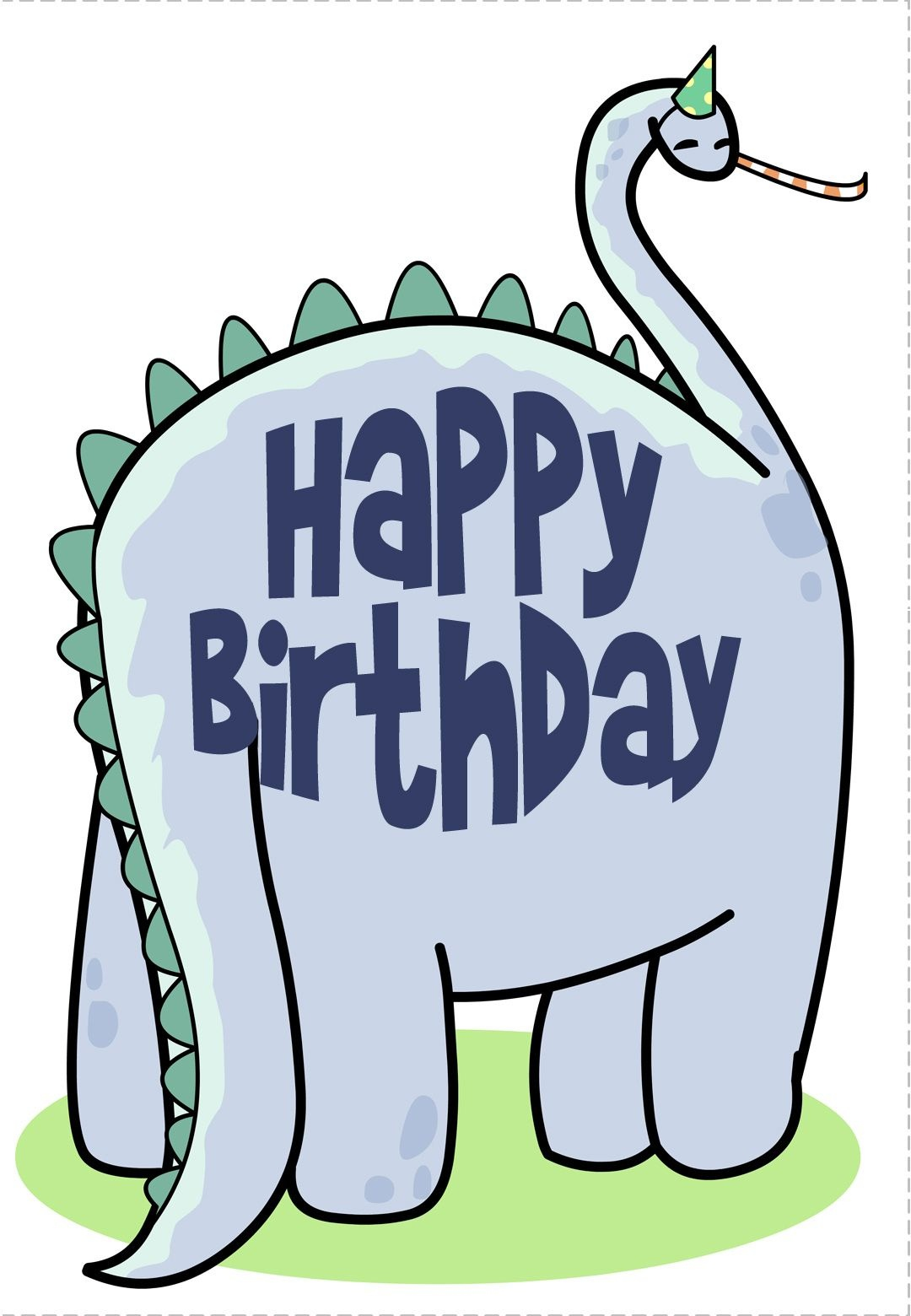 Free Printable Dinosaur Greeting Card. This Website Awesome For - Free Printable Money Cards For Birthdays