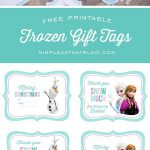 Free Printable Disney Frozen Gift Tags | Simple As That Printables   Birthday Party Favor Tags Printable Free