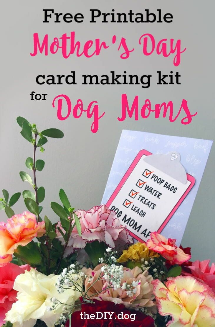 Free Printable Dog Mom Mother's Day Card Making Kits | Diy Recipes - Free Printable Mothers Day Cards From The Dog