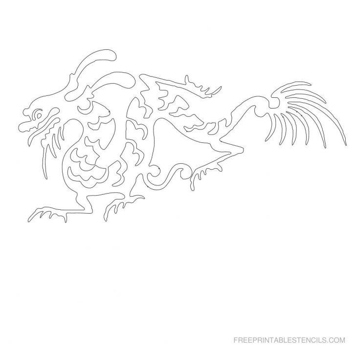 Free Printable Dragon Stencils