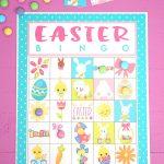 Free Printable Easter Bingo Game Cards   Happiness Is Homemade   Free Printable Easter Cards
