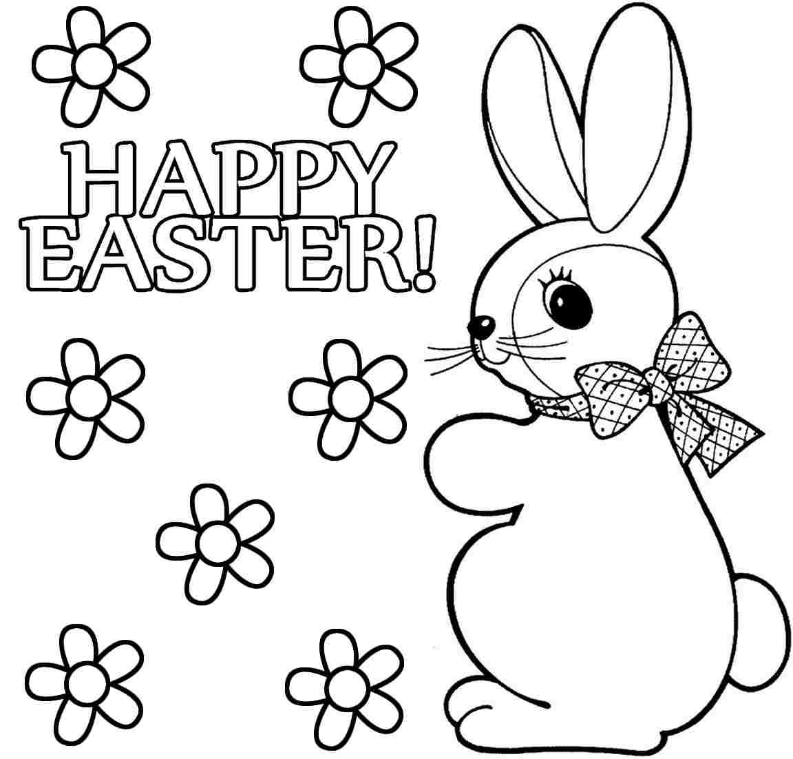 Free Printable Easter Coloring Pages For Preschoolers – Happy Easter - Free Printable Easter Drawings
