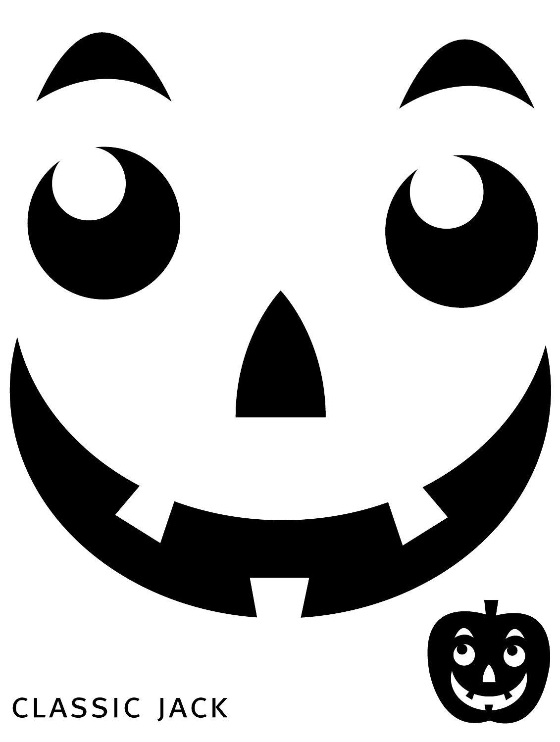 Free Printable Easy Funny Jack O Lantern Face Stencils Patterns - Free Printable Pumpkin Faces