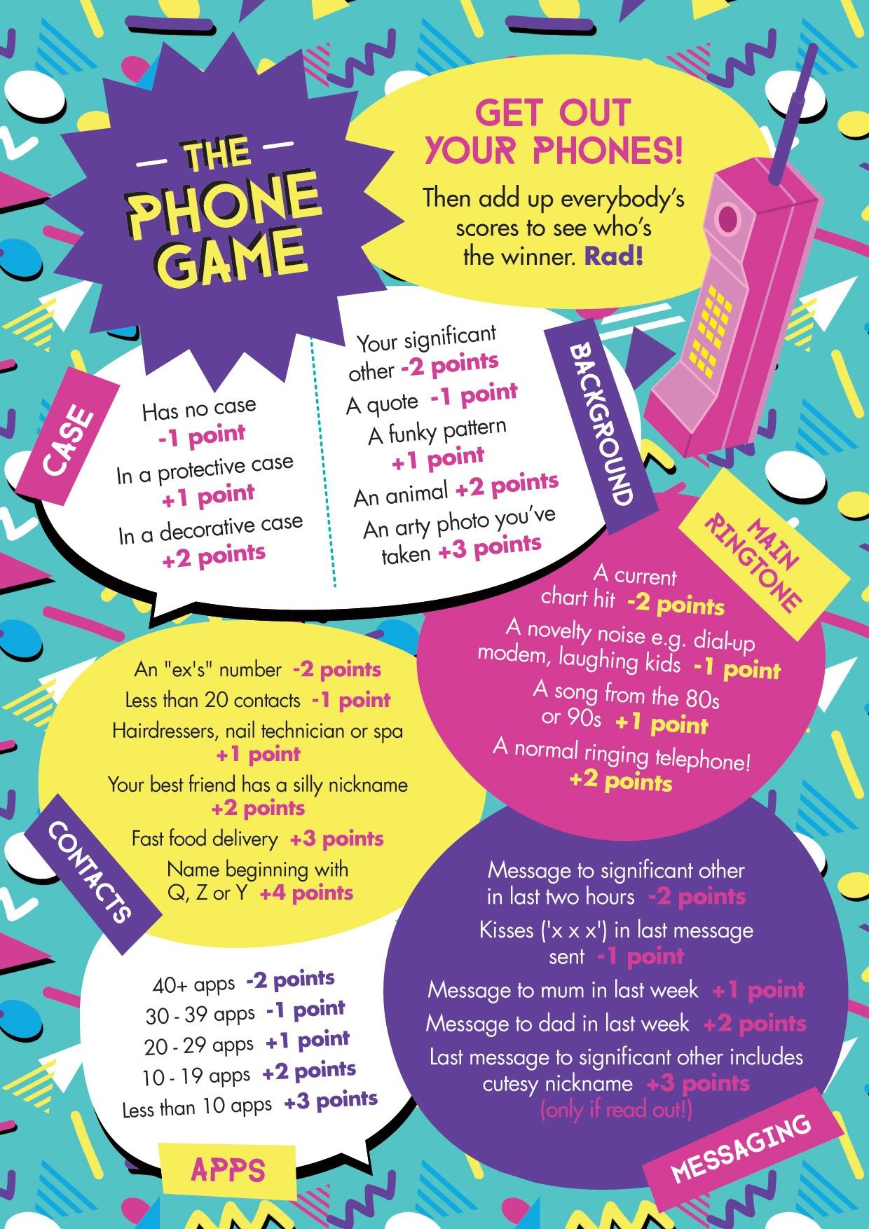 "Free Printable: Easy, Simple ""the Phone Game""! Hen Party Game Idea - What's In Your Cell Phone Game Free Printable"