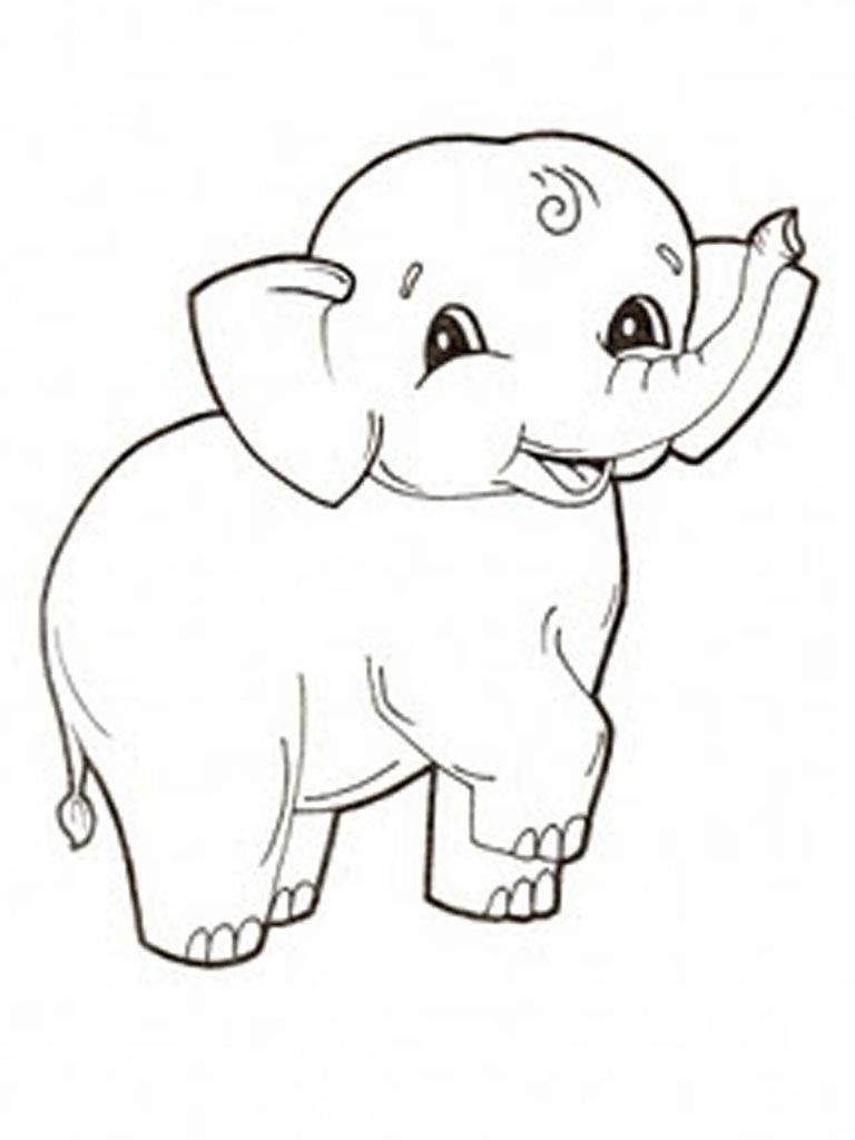 Free Printable Elephant Coloring Pages For Kids | Let's Color - Free Printable Elephant Pictures