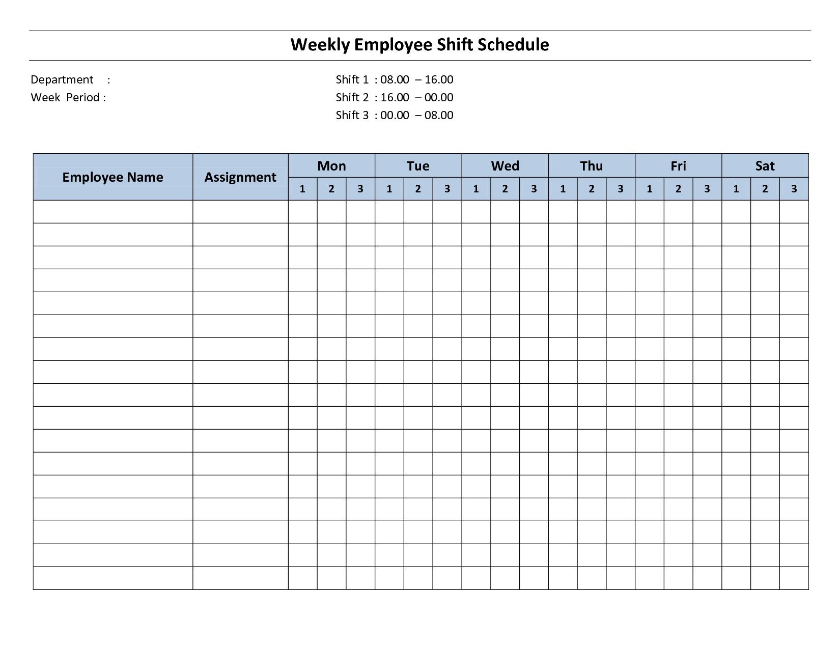 Free Printable Employee Work Schedules | Weekly Employee Shift - Free Printable Business Hours Sign