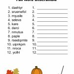 Free Printable   Fall Word Unscramble | Games For Senior Adults   Unscramble Word Games Printable Free