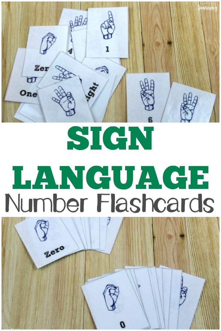 Free Printable Flashcards: Asl Number Flashcards - Sign Language Flash Cards Free Printable