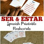 Free Printable Flashcards: Ser And Estar Flashcards | Mi Español   Free Printable Spanish Verb Flashcards