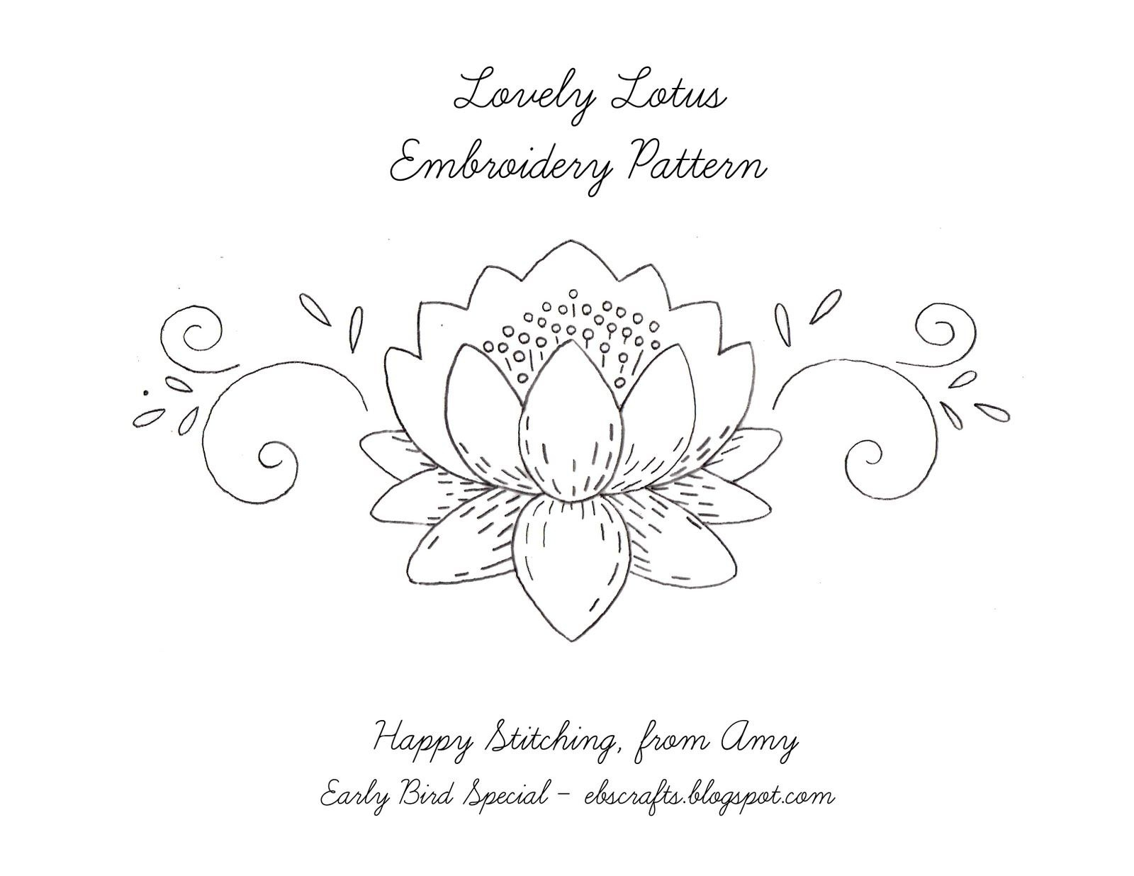 Free Printable Flower Embroidery Patterns | Free Embroidery Pattern - Free Printable Embroidery Patterns