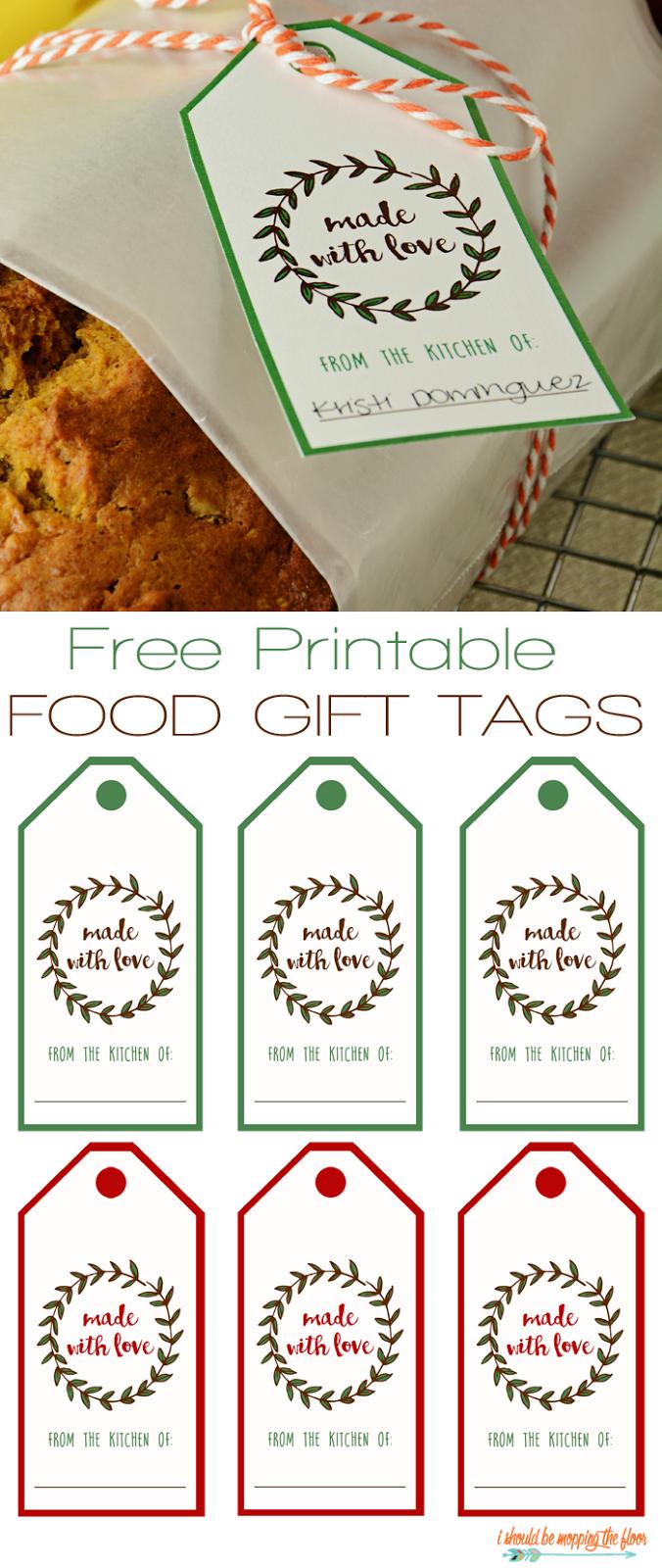 Free Printable Food Gift Tags | Printables | Gift Tags Printable - Free Printable Christmas Food Labels