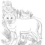 Free Printable Fox Coloring Pages For Kids | Coloring Sheets | Fox   Free Printable Desert Animals