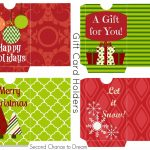 Free Printable Gift Tags & Gift Card Holders | Christmas Printables   Free Printable Christmas Gift Cards