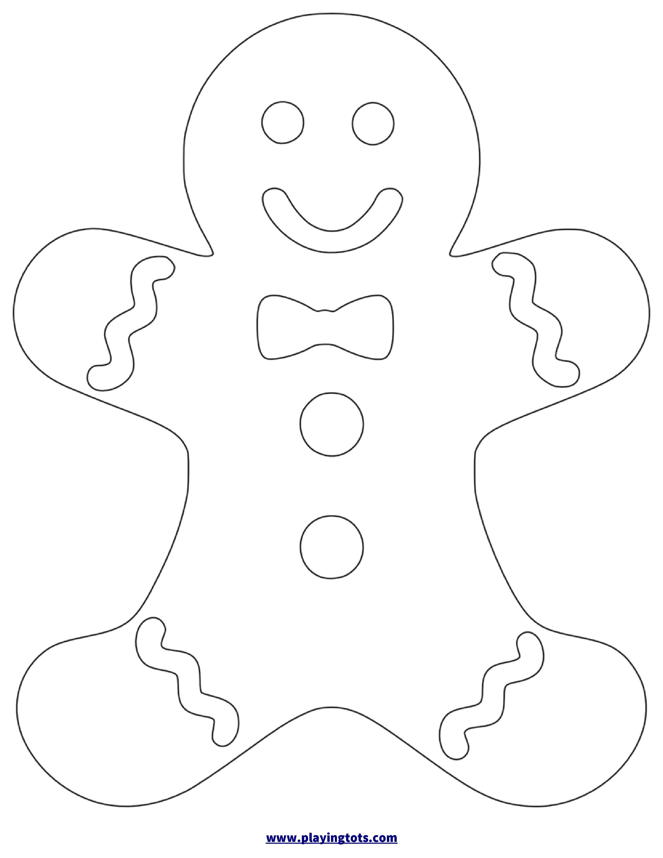 Free Printable Gingerbread Man Worksheet | Christmas Crafts - Gingerbread Template Free Printable