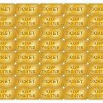 Free Printable Golden Ticket Templates | Blank Golden Tickets | Cool   Free Printable Tickets