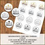 Free Printable Graduation Cupcake Toppers   Classy Mommy   Free Printable Graduation Cupcake Toppers
