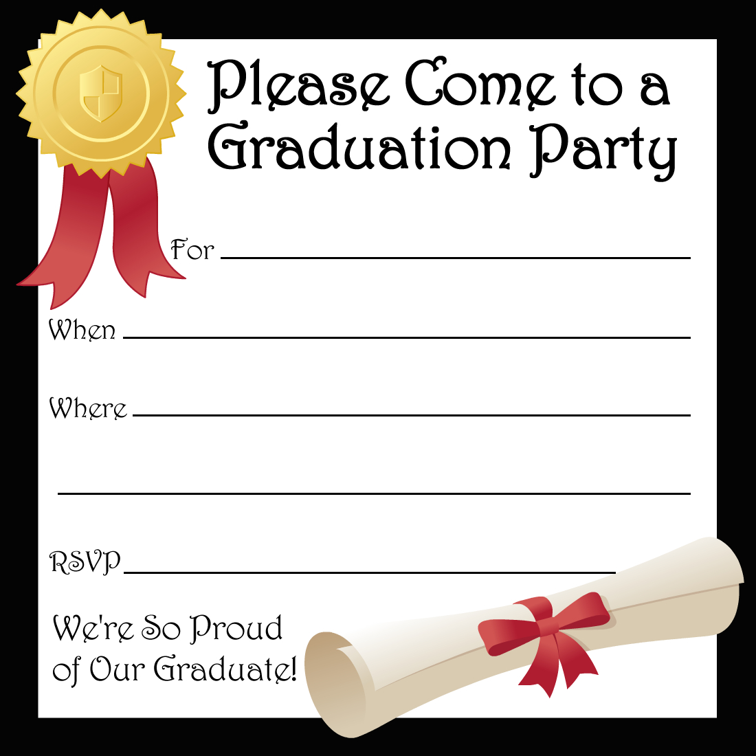 Free Printable Graduation Party Invitations | High School Graduation - Free Printable Graduation Party Invitations 2014
