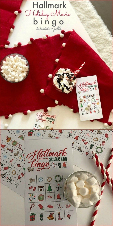 Free Printable Hallmark Channel Holiday Bingo Game Cards | Diy Ho Ho - Free Printable Hallmark Cards