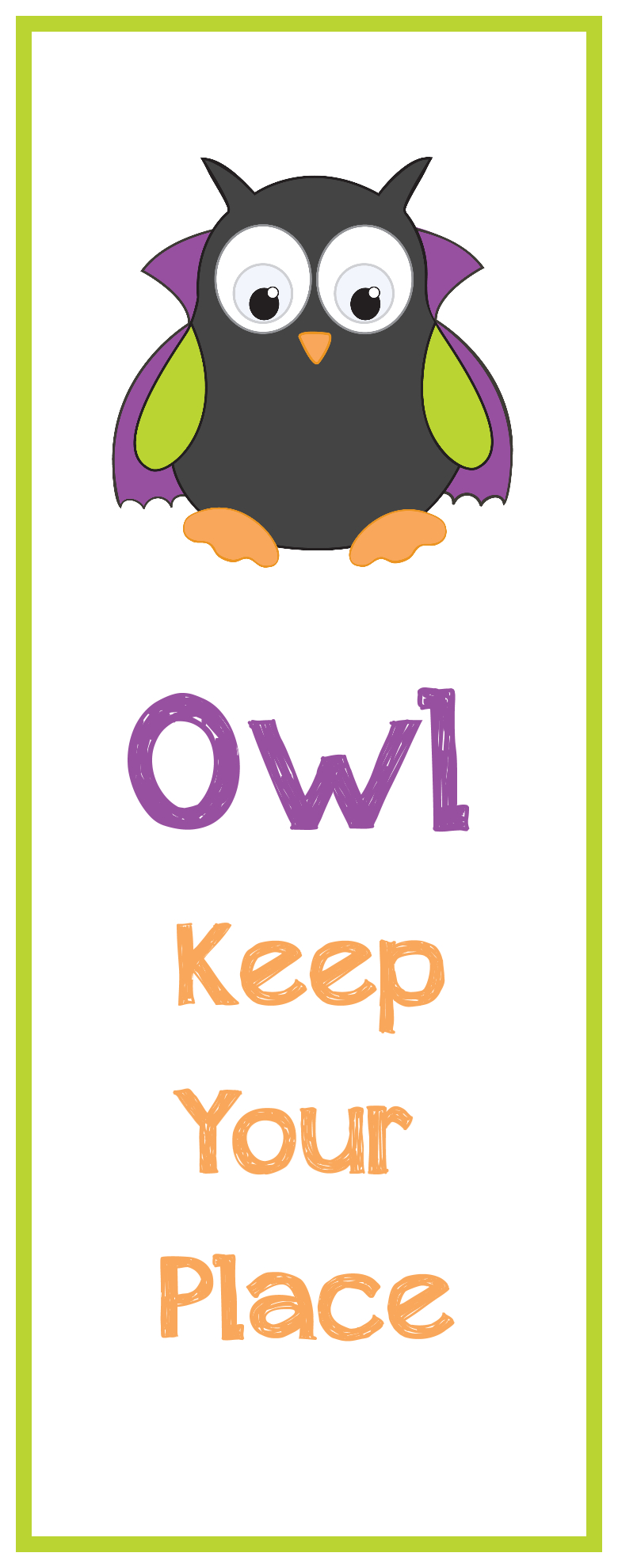 Free Printable Halloween Bookmarks - Free Printable Owl Bookmarks