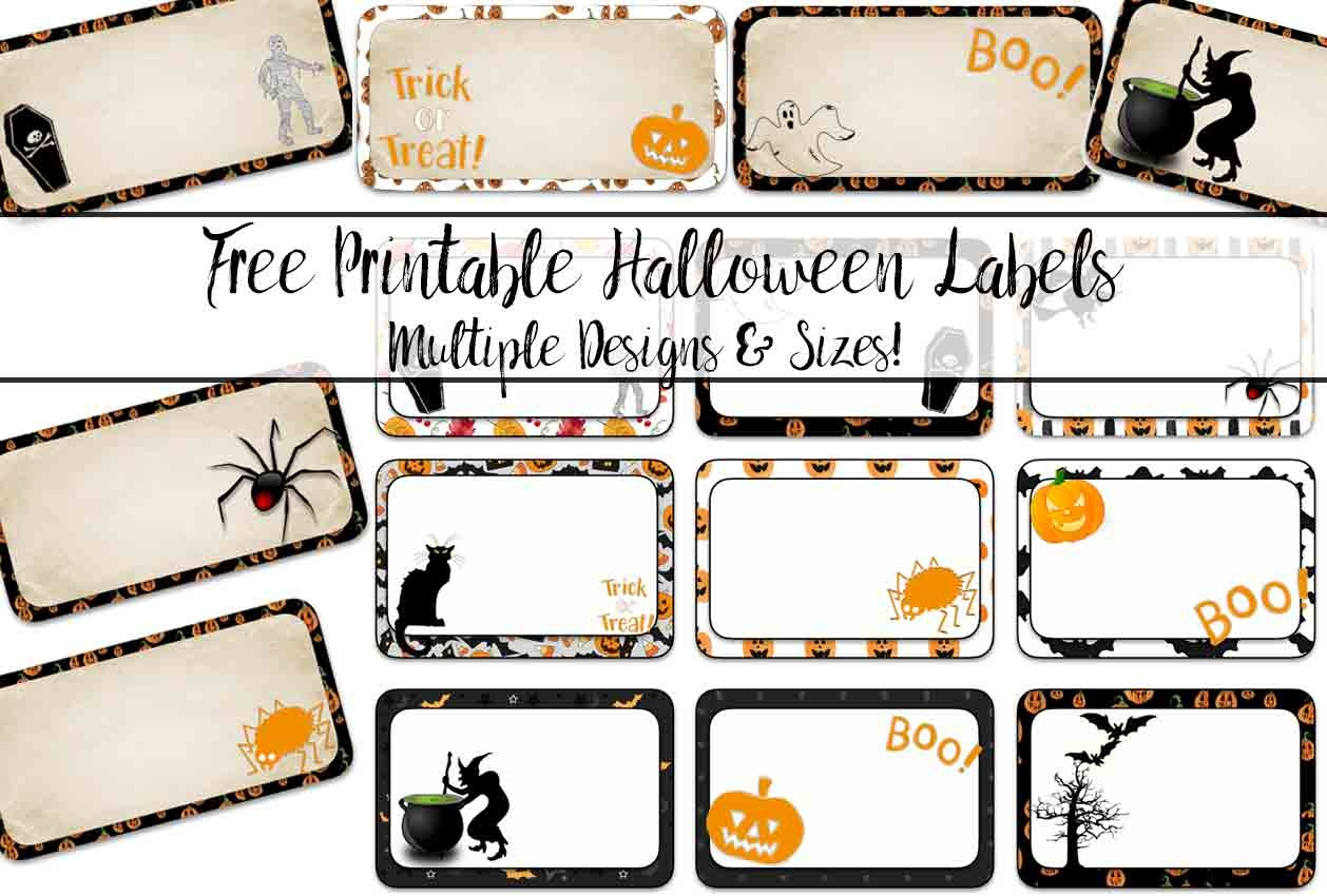 Free Printable Halloween Labels: Multiple Sizes, Multiple Designs - Free Printable Halloween Labels
