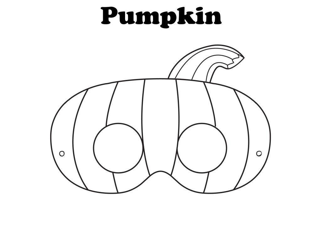 Free Printable Halloween Pumpkin Mask - Ready To Be Colored! | Mops - Free Printable Halloween Face Masks