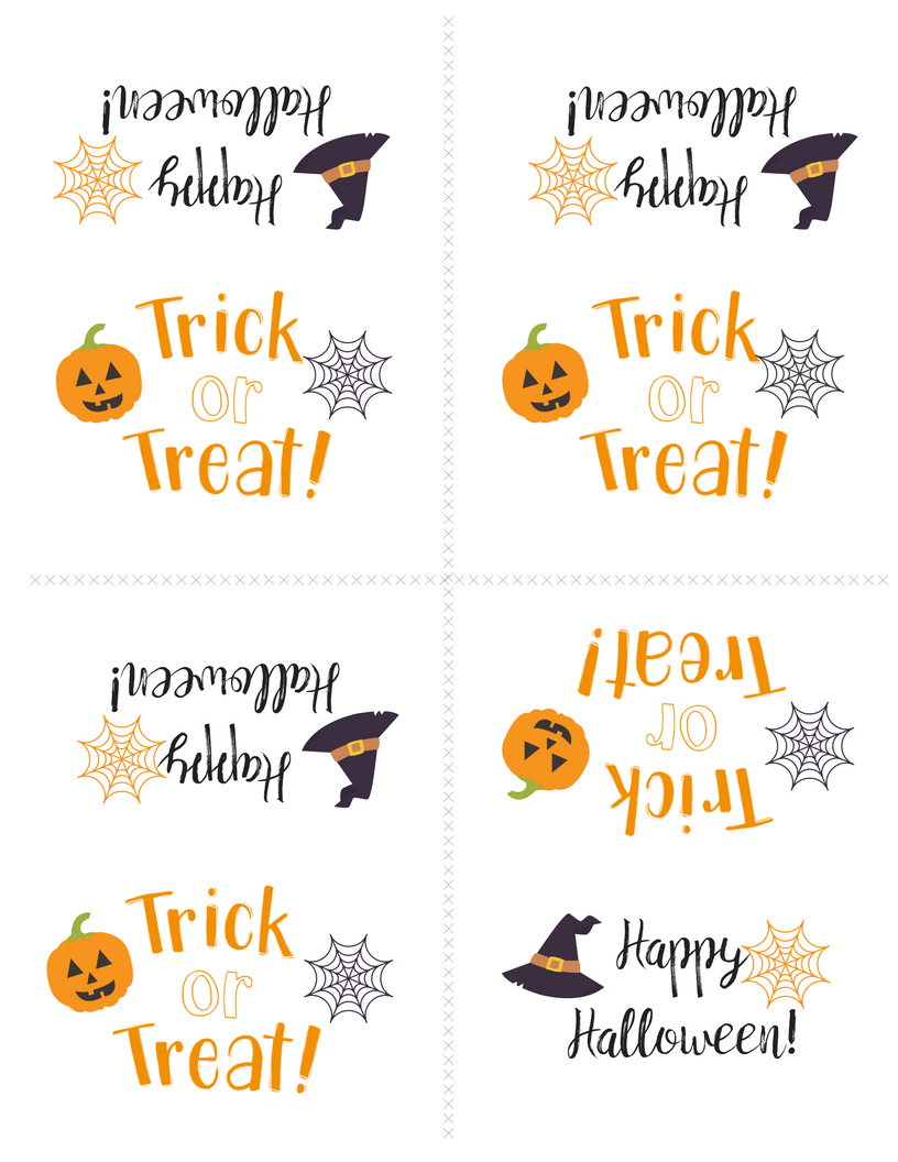 Free Printable Halloween Treat Bag Topper | Halloween | Halloween - Free Printable Trick Or Treat Bags