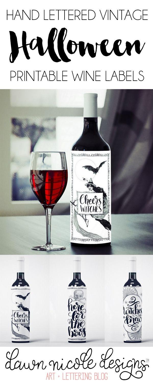Free Printable Halloween Wine Bottle Labels | Ultimate Diy Board - Free Printable Wine Labels For Birthday