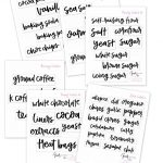Free Printable Hand Lettered Pantry Labels. In 2019 | Pantry Storage   Free Printable Pantry Labels