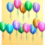 Free Printable Happy Birthday Baloons Greeting Card   Happy   Happy   Free Printable Happy Birthday Signs