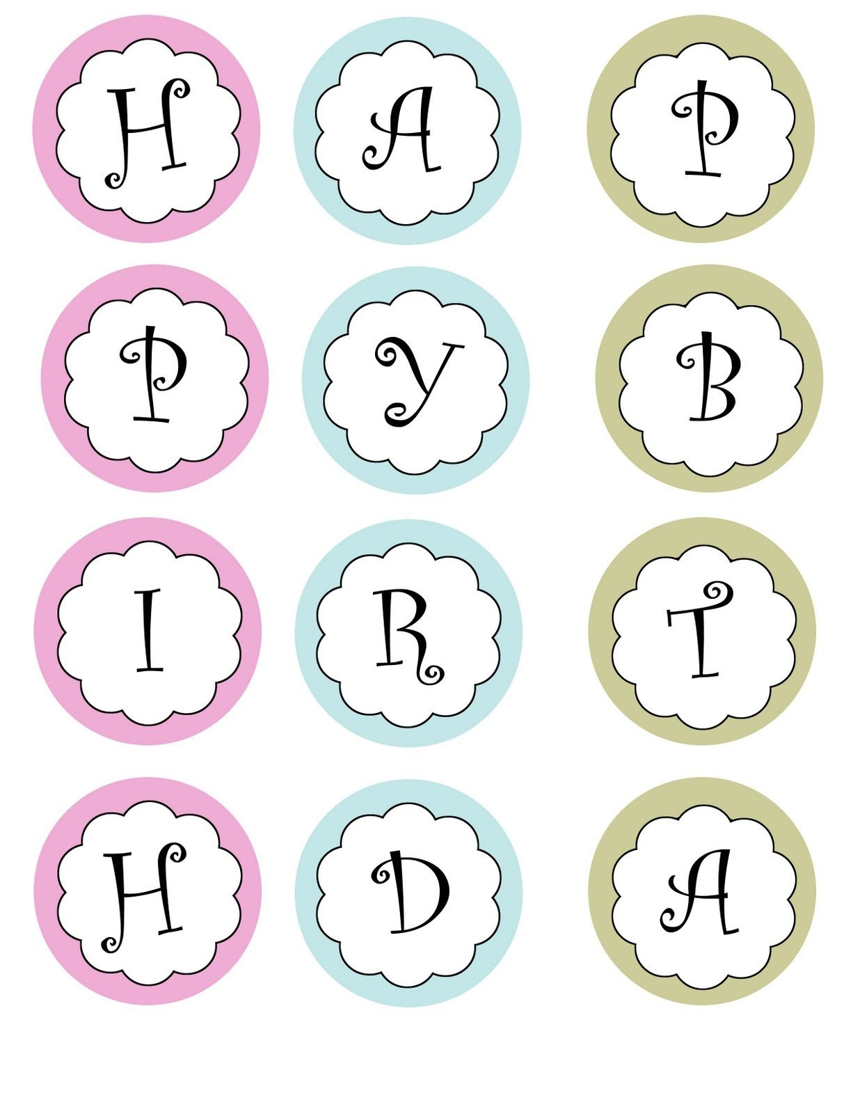 Free Printable Happy Birthday Banner Templates | Theveliger - Free Happy Birthday Printable Letters