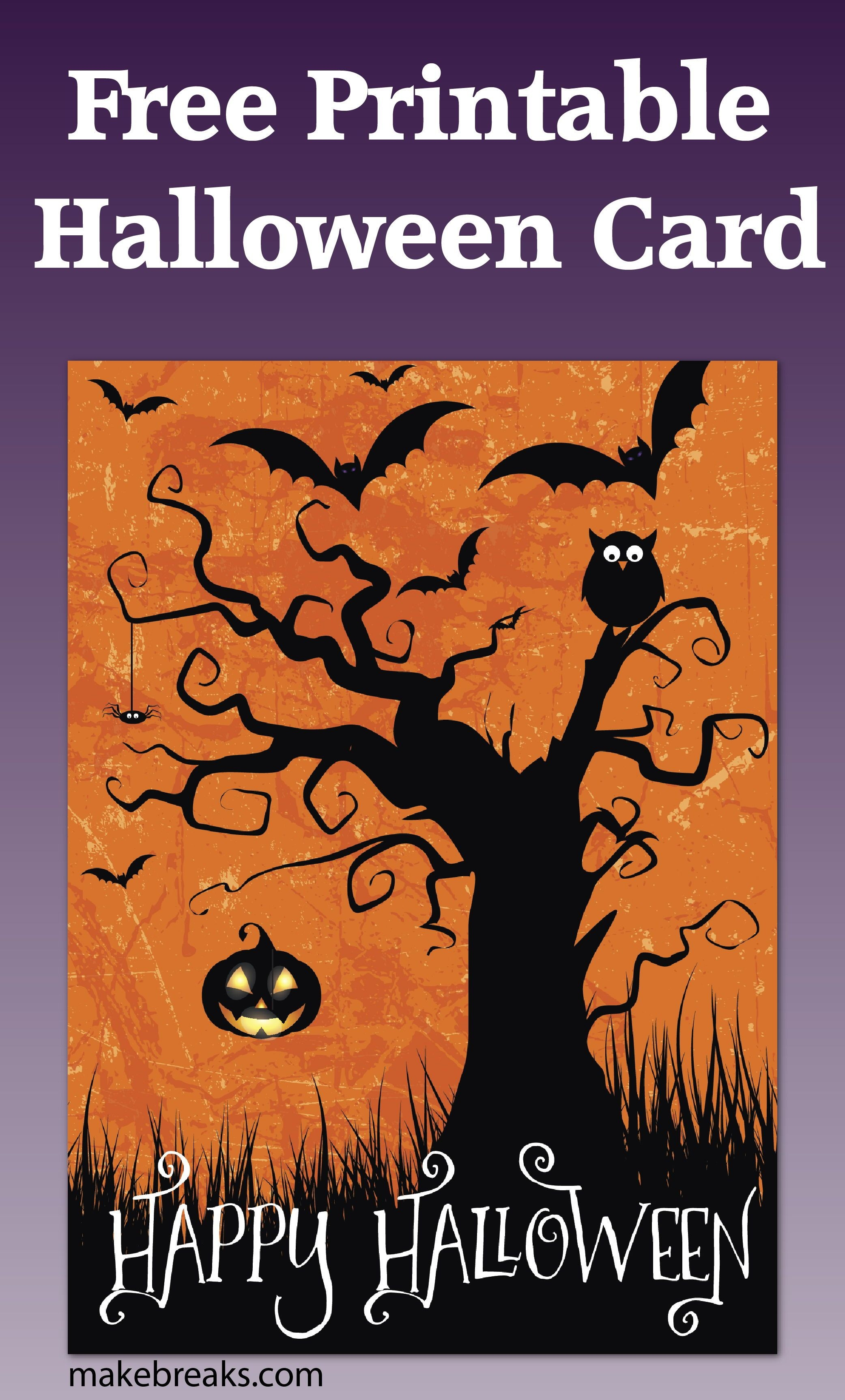 Free Printable Happy Halloween Card Or Party Invitation | Diy And - Free Printable Halloween Cards