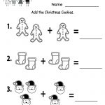 Free Printable Holiday Worksheets | Free Christmas Cookies Worksheet   Free Printable Christmas Worksheets For Kids