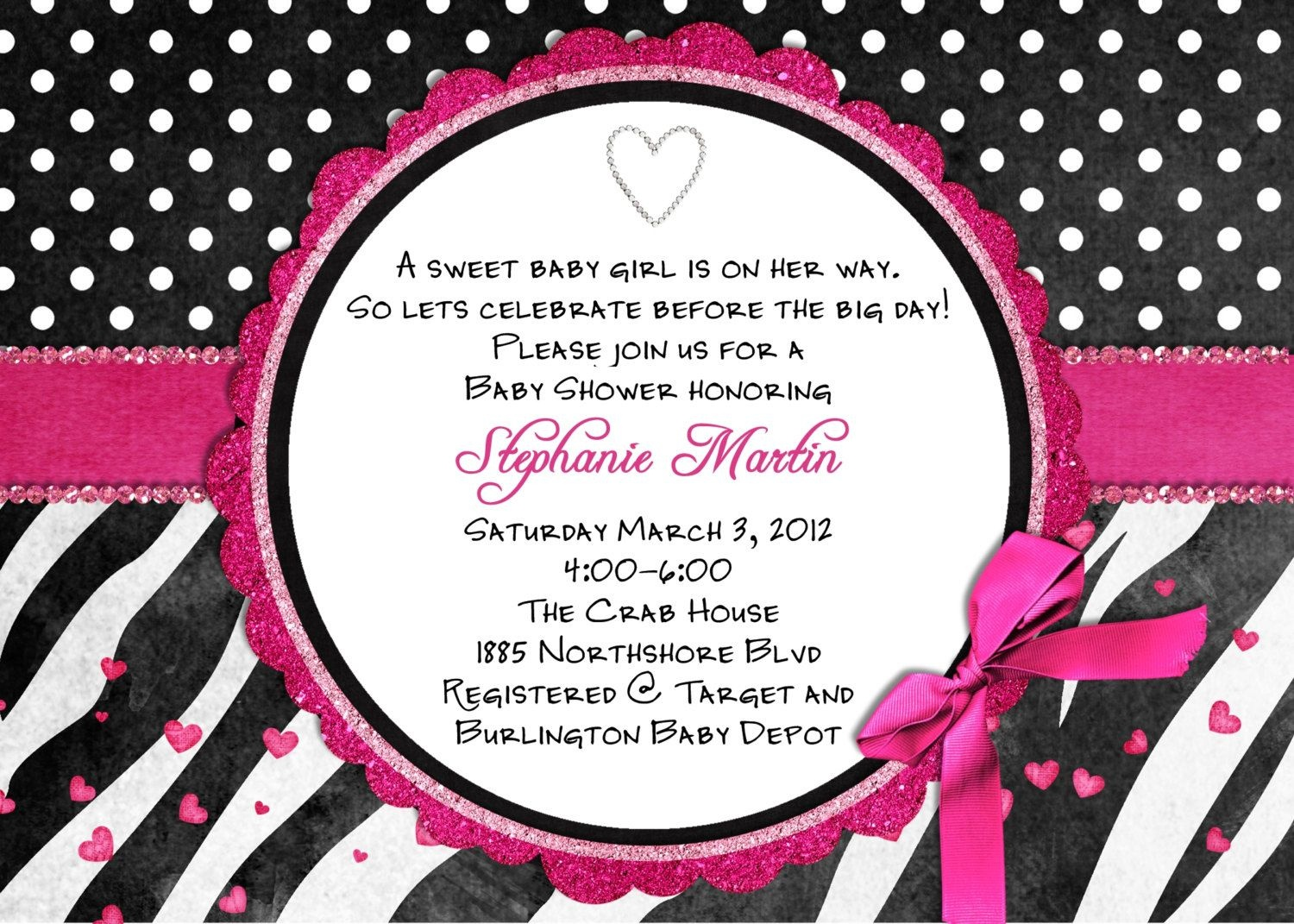 Free Printable Hot Pink Zebra Invitations | Free Printable Zebra - Free Printable Animal Print Birthday Invitations