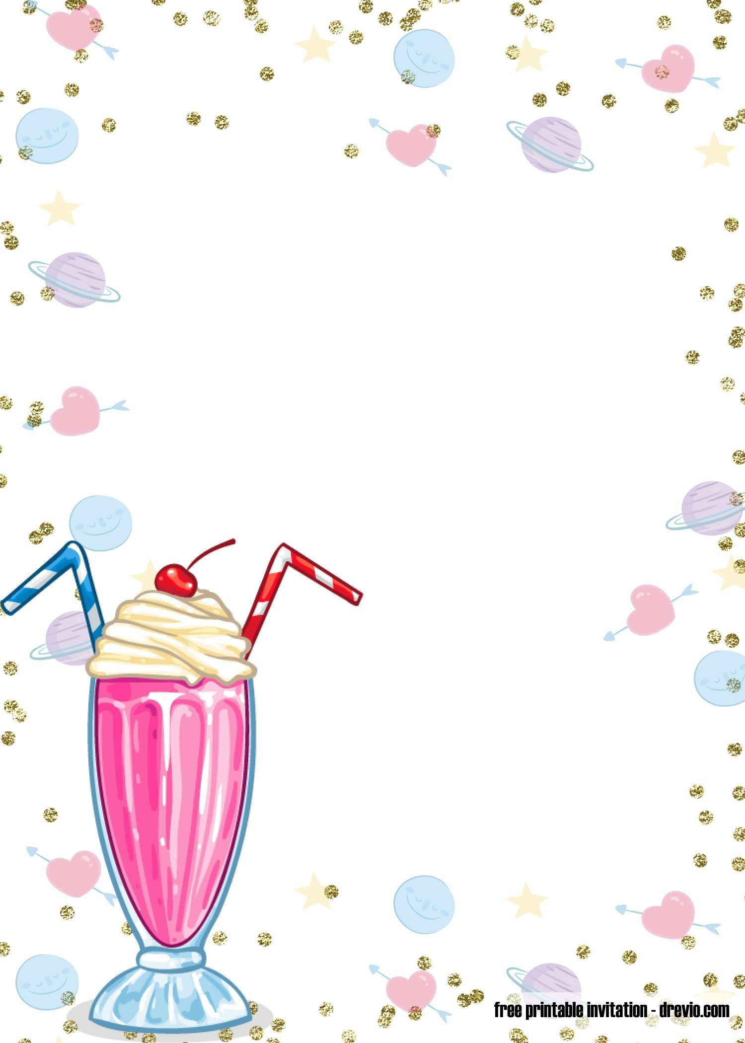 Free Printable Ice Cream Birthday Invitation | Free Printable - Ice Cream Party Invitations Printable Free