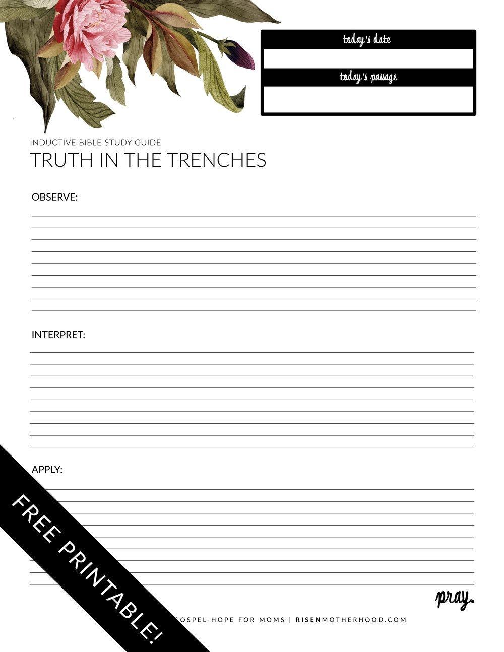 Free Printable: Inductive Bible Study Worksheets & Companion Card - Free Printable Bible Study Guides