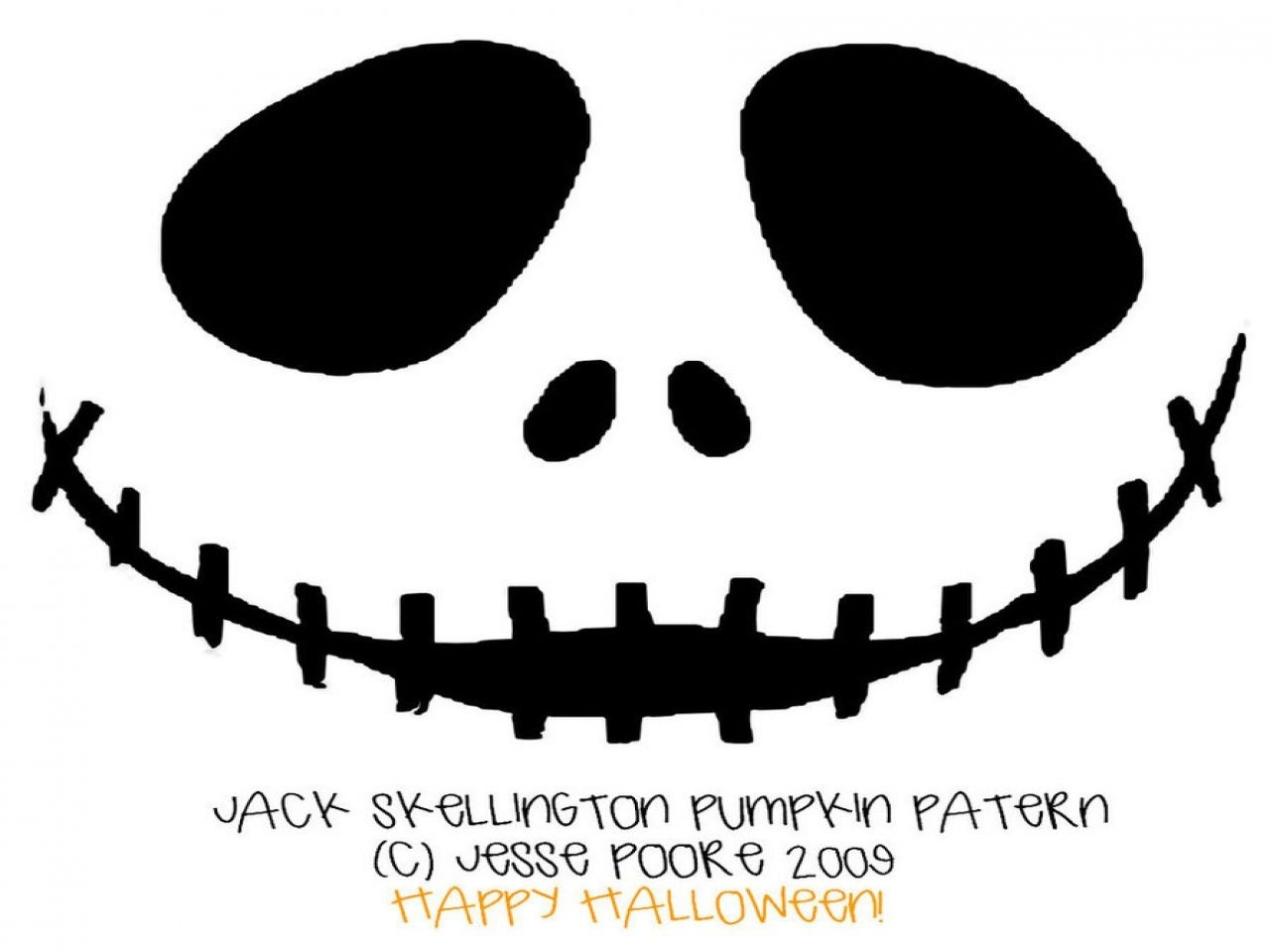 Free Printable Jack Skellington Pumpkin Carving Stencil Templates - Jack Skellington Stencil Free Printable