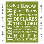 Free Printable Jeremiah 29:11 Scripture Art   Frugal & Focused   Jeremiah 29 11 Free Printable