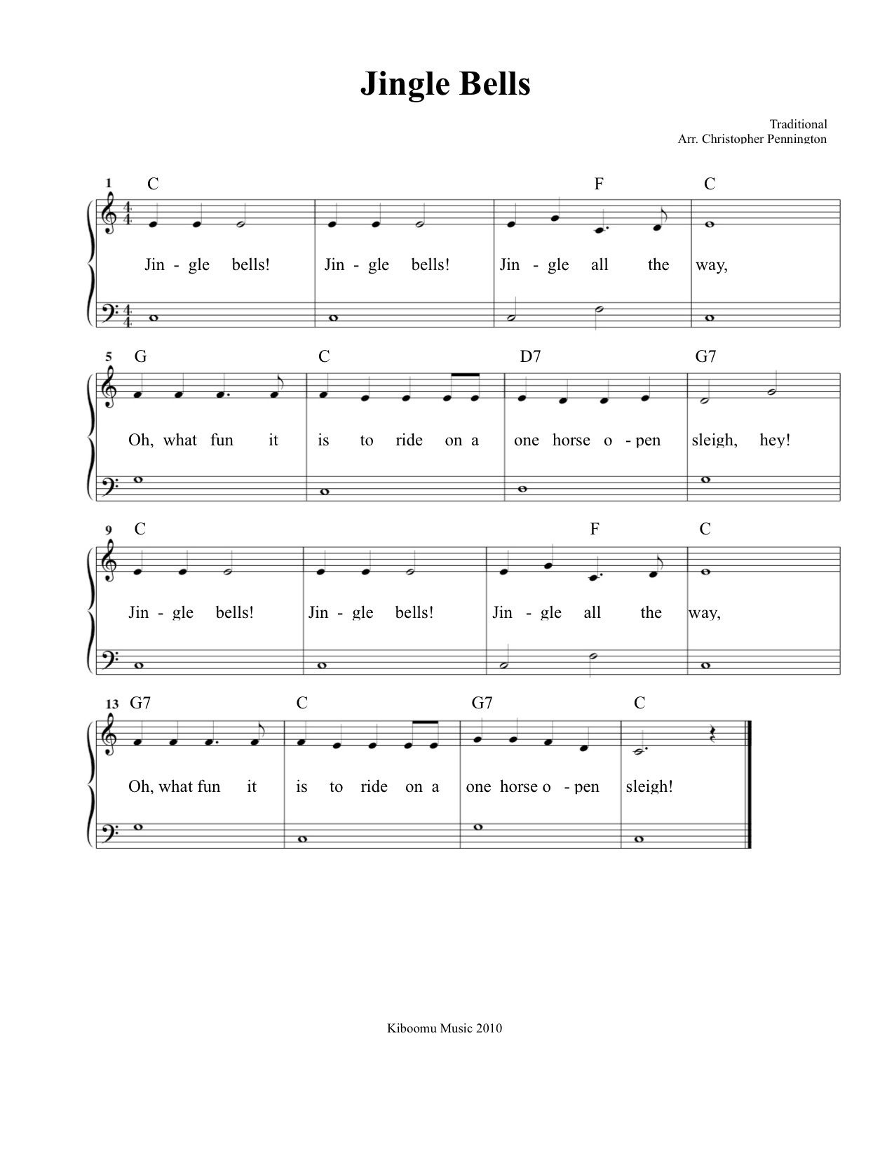 Free Printable Jingle Bells Sheet Music And Song For Kids! | Piano - Christmas Songs Piano Sheet Music Free Printable