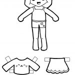 Free Printable Kawaii Paper Dolls | Paper Doll: Black And White   Free Printable Paper Dolls