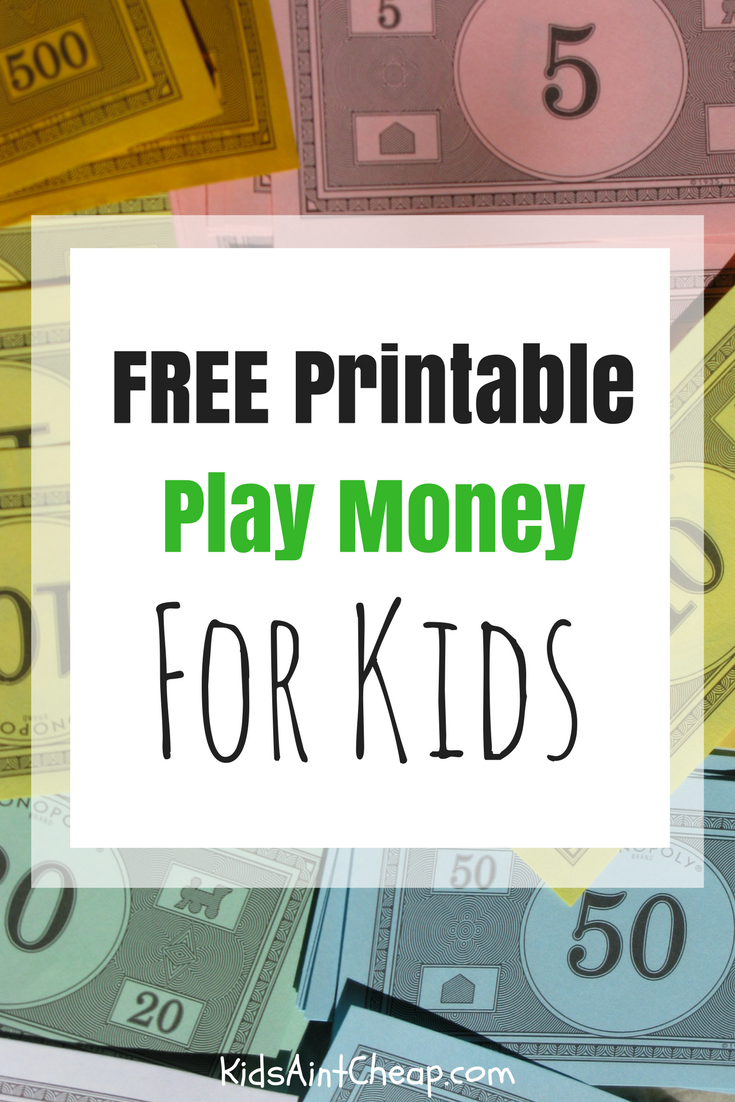 Free Printable Kids Money For Download | Kids Ain't Cheap - Free Printable Us Currency