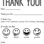 Free Printable Kids Thank You Cards To Color | Thank You Card   Free Printable Thank You Cards For Soldiers