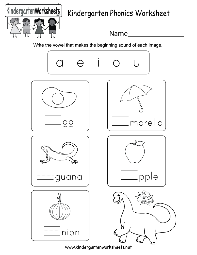 Free Printable Kindergarten Phonics Worksheet - Free Printable Phonics Worksheets