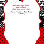 Free Printable Ladybug Baby Shower Invitations Templates | Party   Free Printable Ladybug Invitations