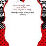 Free Printable Ladybug Baby Shower Invitations Templates | Pegs In   Free Printable Ladybug Baby Shower Invitations Templates