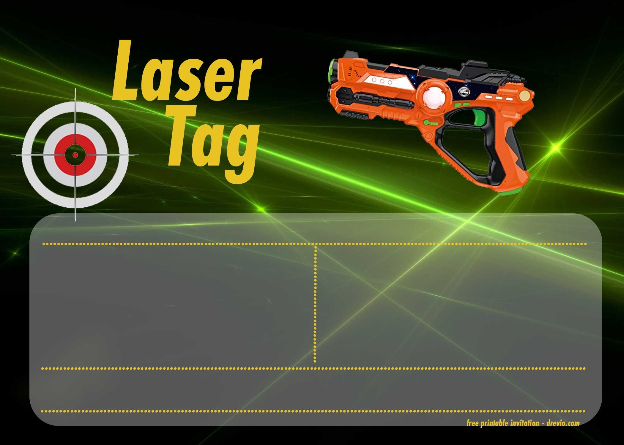 Free Printable Laser Tag Invitation Templates | Free Printable - Free Printable Laser Tag Invitation Template