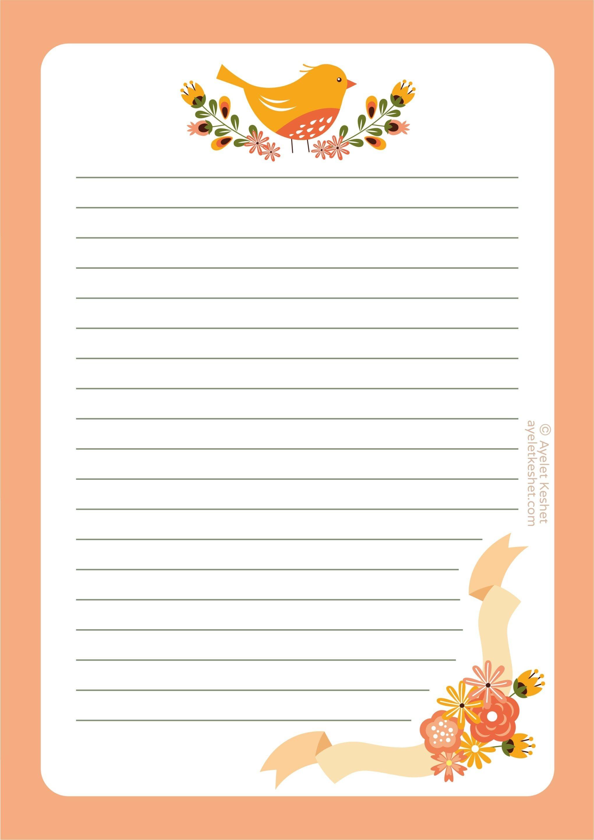 Free Printable Letter Paper | Journals, Notebks, Plnrs | Paper - Free Printable Stationery Writing Paper