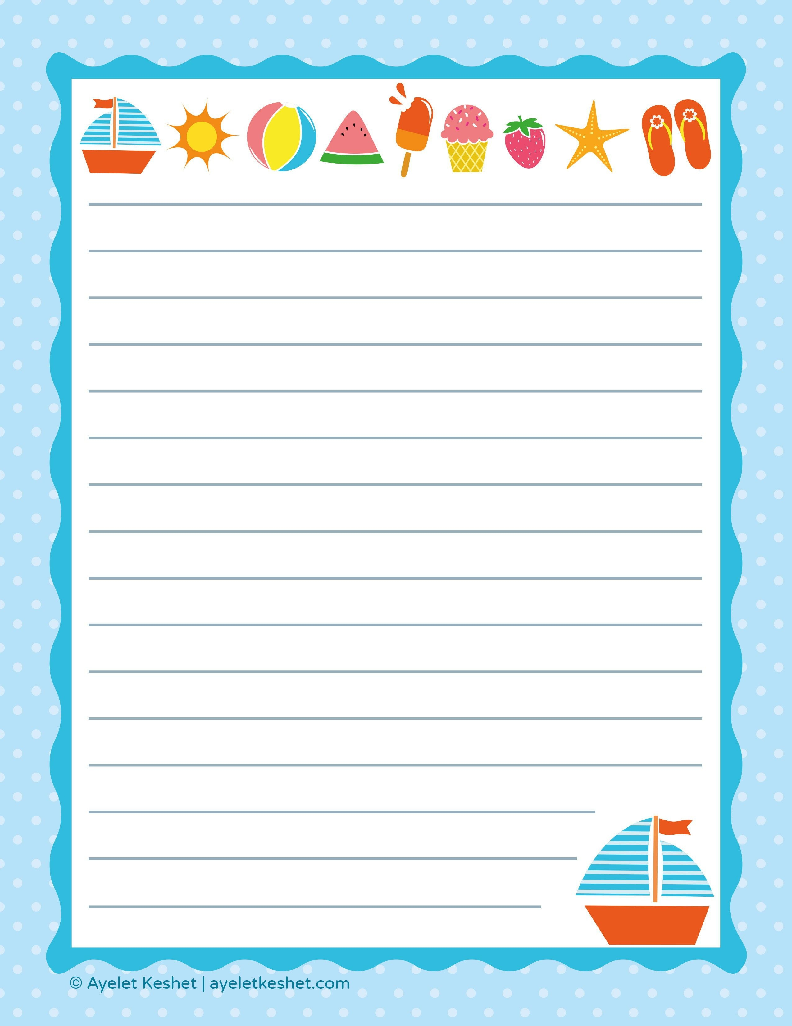 Free Printable Letter Paper | Printables To Go | Printable Letters - Free Printable Summer Borders