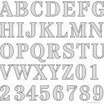 Free Printable Letter Stencils   Free Printable Alphabet Stencils