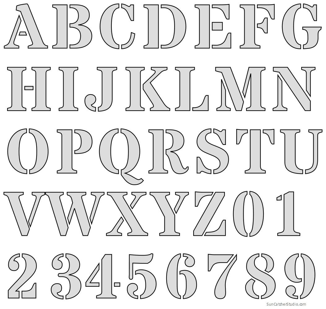 Free Printable Letter Stencils - Free Printable Alphabet Stencils