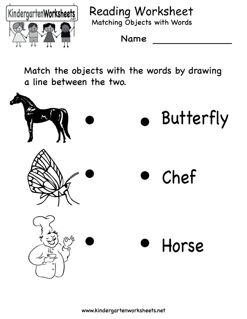 Free Printable Letter Worksheets Kindergarteners | Reading Worksheet - Free Printable English Reading Worksheets For Kindergarten